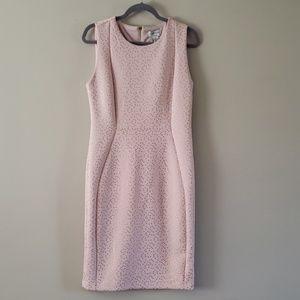 Carmen Marc Valvo Light pink sheath dress